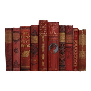 Antique Ruby Beauties Book Set, S/10 For Sale