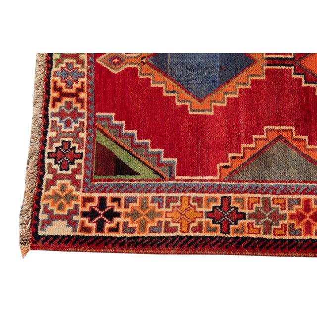 Mid 20th Century Vintage Rug For Sale - Image 4 of 9