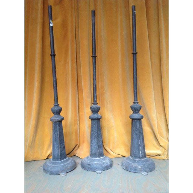 Large Metal and Iron Industrial Floor Lamp For Sale In New York - Image 6 of 7