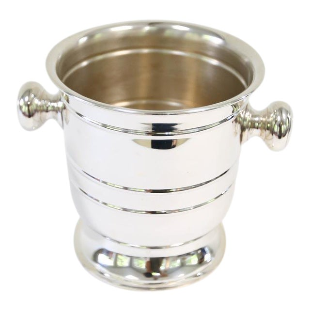 2010s Petite Silver Plated Champagne Bucket For Sale - Image 5 of 5