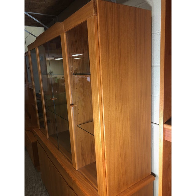 Late 20th Century Danish Modern Teak China or Display Cabinet 1980s For Sale - Image 5 of 9