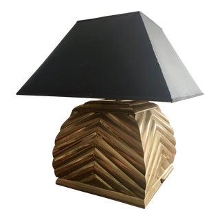 Chapman Brass Chevron Table Lamp