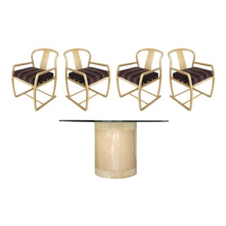Contemporary Bentwood Blonde Wood Dining Set - 5 Pieces For Sale