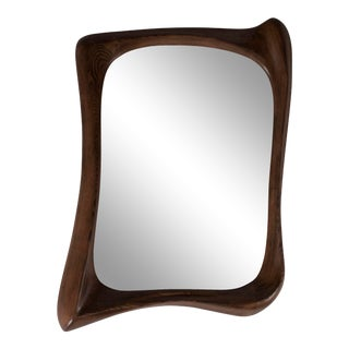 Amorph Narcissus Graphite Walnut Mirror For Sale
