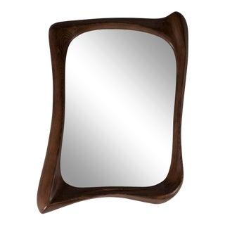 Amorph Narcissus Graphite Walnut Mirror For Sale