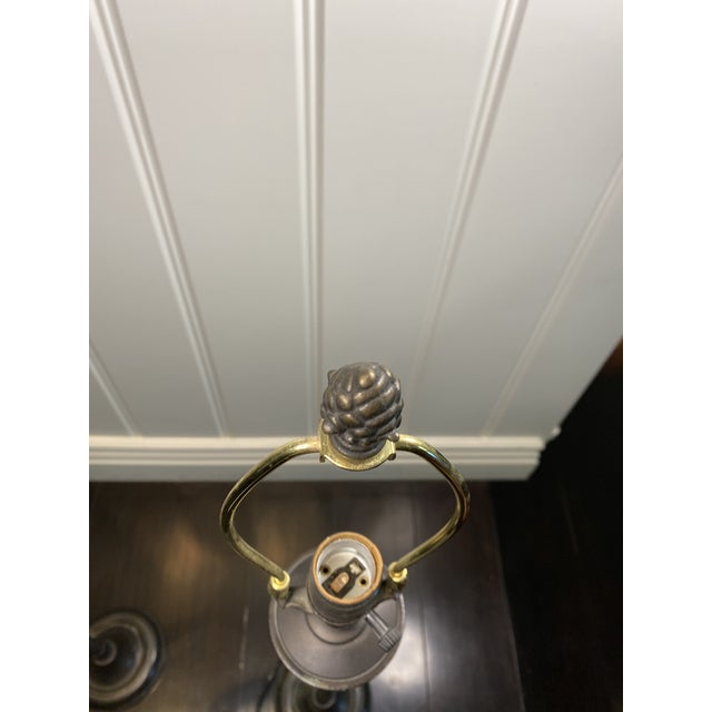 Bronze Table Lamps - a Pair For Sale In Los Angeles - Image 6 of 7