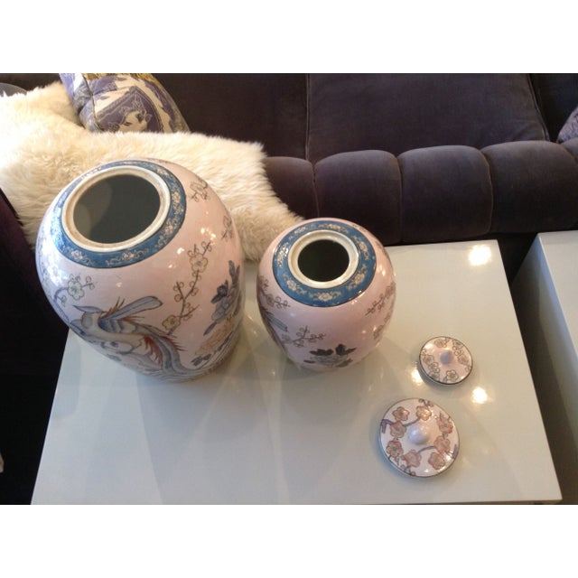Asian Ginger Jars in Pastels - A Pair - Image 2 of 4