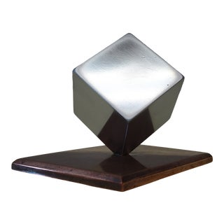 1940s Art Deco Desk Paperweight Cube For Sale