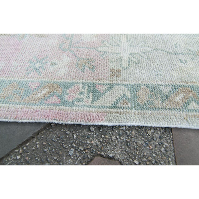 1980s House of Séance - 1980s Turkish Oushak Runner Handwoven Rug - 2′3″ × 12′10″ For Sale - Image 5 of 11