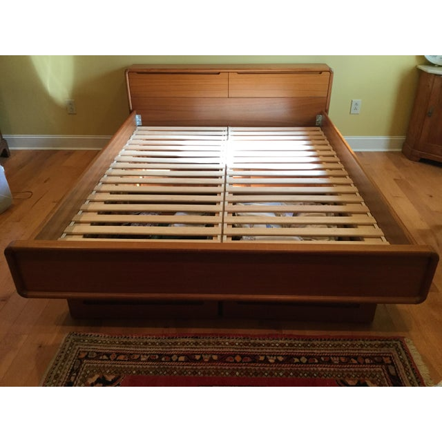 Teak Queen Bed Frame - Image 3 of 11