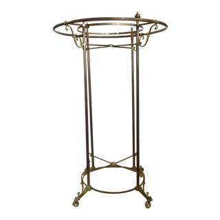 Early 20th C. Antique Hotel Brass Coat Rack For Sale