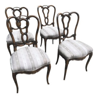 Carved Back Dining Chairs - Set of 4 For Sale