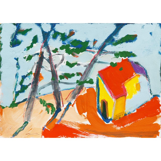 Paper 'Carmel Cottage' by Robert Canete, California Expressionist, Stanford For Sale - Image 7 of 7