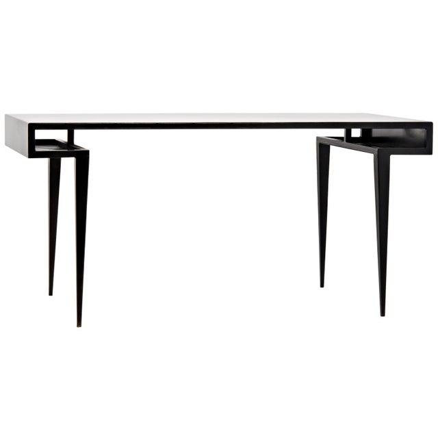 Mid-Century Modern Stiletto Desk, Metal For Sale - Image 3 of 3