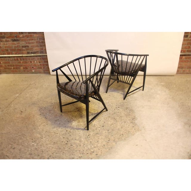 Set of Four Sonna Rosen 'Sulfjadern' Chairs - Image 5 of 8