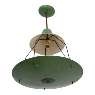 Mid-Century Modern Italian Chandelier Exposed Bulb For Sale