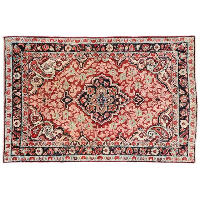 Vintage Persian Mahal Rug - 4'1 x 6'3 For Sale