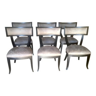 Modern Klismos Style Dining Chairs - Set of 6 For Sale