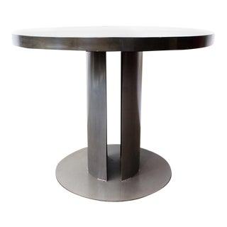 Custom Machine Age Steel Dining Table, Rehab Vintage Original For Sale