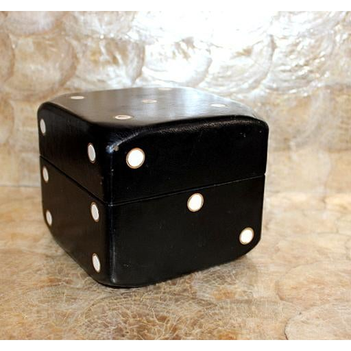 Vintage Leather Covered Dice Box - Image 6 of 6