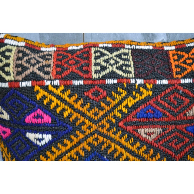 Vintage Turkish Kilim Rug Pillow Covers- A Pair - Image 5 of 5