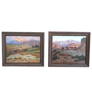 Impressionist Landscapes Henry Sene, French - A Pair For Sale