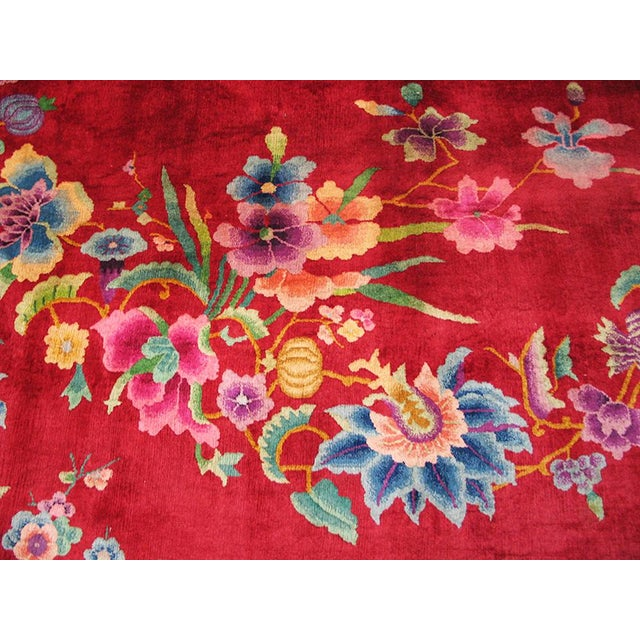 "1930s Chinese Art Deco Rug - 8'9""x11'6"" For Sale - Image 9 of 10"