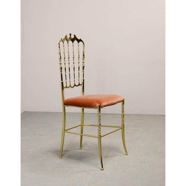 Mid-Century Italian Design Side Chair by Giuseppe Gaetano Descalzi for Chiavari, Italy, 1950s For Sale - Image 6 of 11