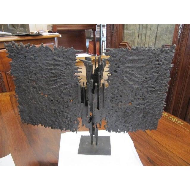 Brutalist Brutalist Mid-century Bronze, T. Mori Untitled 1962 For Sale - Image 3 of 5