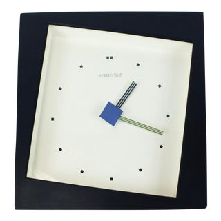 1980 PostModern Memphis Era Abstract Wall Clock For Sale