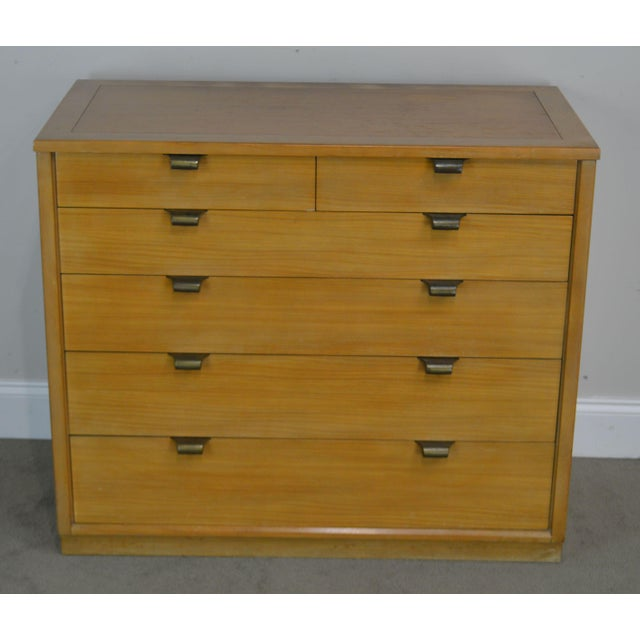 Wood Edward Wormley for Drexel Precedent Pair Mid Century Modern Chests For Sale - Image 7 of 13