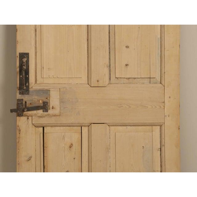 Antique Irish Scrubbed Pine Interior Door For Sale - Image 4 of 10