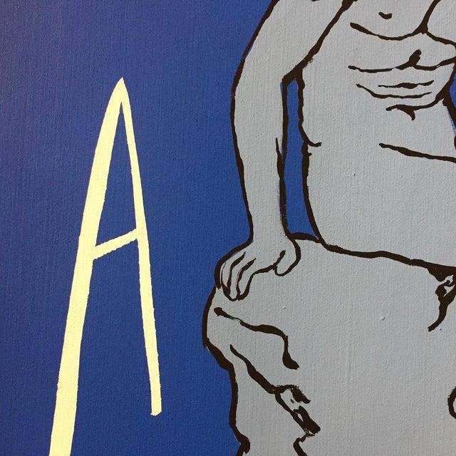 "Patrick Moya ""Mercure Bleu"" Acrylic, France For Sale - Image 4 of 9"