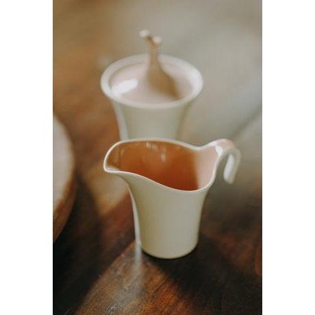 1960s Minimal Ceramic Cream and Sugar Set For Sale - Image 5 of 8