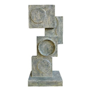"""Abstract Cubist Sculpture """"Vertical Composition"""" by Bill Low For Sale"""