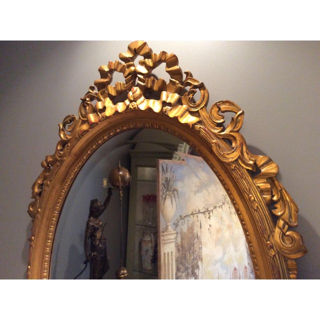 Ethan Allen Gold Bow Mirror - Image 5 of 10