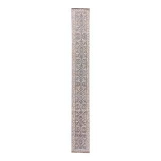 """Apadana - 21st Century Oushak Style Rug, 2'5"""" x 19'9"""""""
