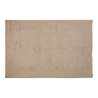 Vintage Distressed Bulgarian Polonaise Design Carpet - 6' X 9' For Sale