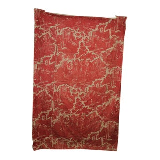 Antique 1810-1820s French Toile De Rouen Life of Joseph Red Quilted Textile For Sale