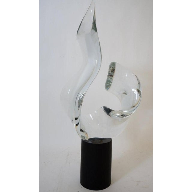 Mid-Century Modern Seguso Signed Abstract Sculpture in Murano Glass For Sale - Image 11 of 11