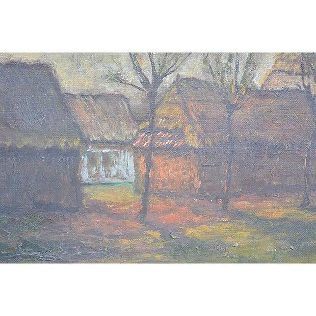 Dutch Farm House Landscape by F. DeVrees For Sale - Image 4 of 5