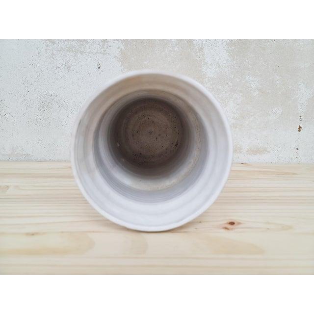 Mid-Century Folk Art Ceramic Vase For Sale - Image 4 of 7