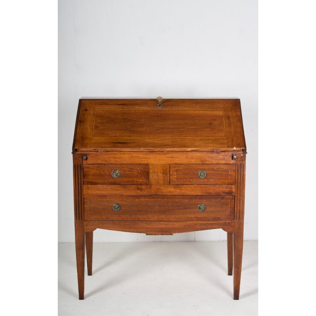 A lovely Provence writing table/desk, with drawers, in the Louis XVI style. This would make a nice bedside table in a...