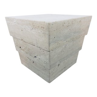 1970s Mid-Century Modern Italian Travertine Pedestal For Sale