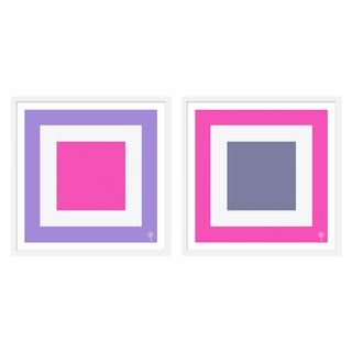 """Large """"Squared I, Set of 2"""" Print by Wendy Concannon, 50"""" X 25"""" For Sale"""