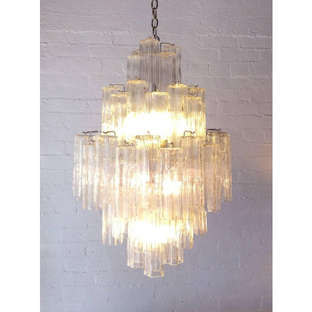 Tronchi Glass Chandelier by Venini for Murano - Image 4 of 9