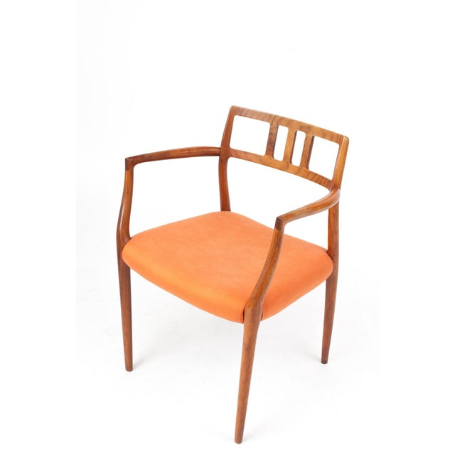Cotton 1960s Danish Modern Niels Otto Møller Teak Armchair For Sale - Image 7 of 7