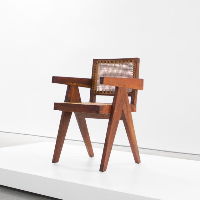Pierre Jeanneret Teak Conference Chair From Chandigarh, India, C. 1952 - 1956 For Sale - Image 10 of 10