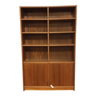 1970s Vintage Danish Modern Bookshelf For Sale