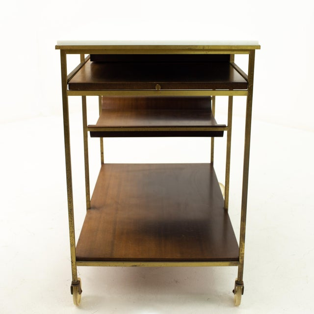 Brown Paul McCobb Mid Century Bar Cart For Sale - Image 8 of 10
